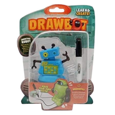 Drawbot Line Tracker Robot Blue color for the age 3 and up