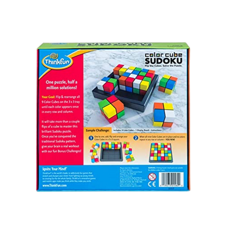 Thinkfun Color Cube Sudoku Logic Puzzle for the age 8 and up