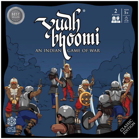 DICE TOY LABS - YUDHBHOOMI - Classic Edition | an Indian BoardGame with Cardboard Warrior Cutouts for Boys and Girls of Ages 5+