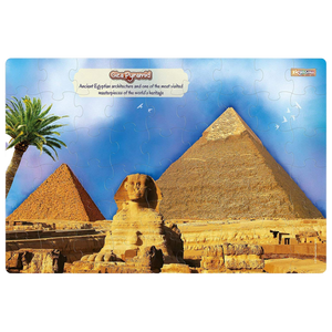 Zigyasaw Giza Pyramid Premium Giant Floor Game-54 Pcs Jigsaw Puzzle-for age 5 and up