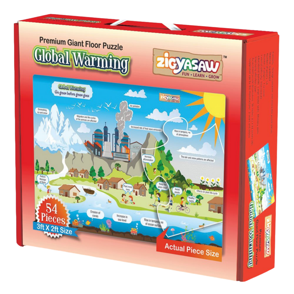Zigyasaw Global Warming Premium Giant Floor Puzzle Game -54  Pcs Jigsaw Puzzle-for age 5 and up