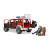 Licensed Jeep Wrangler Unlimited Rubicon Fire Dept W/Fireman (Red) 1:16 Scale Model for the age 3 and up