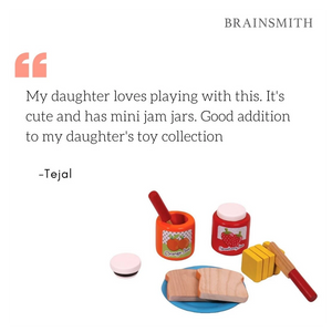 Bread and Jam Set - Wooden Toy - Age 3+