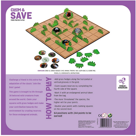 Claim and Save -  Strategy Game - Age 6+
