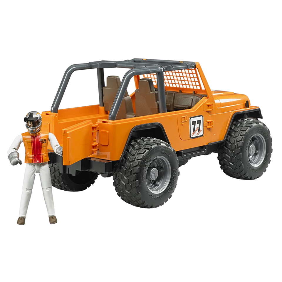 Licensed Jeep Cross Country Racer with Orange Racer 1:16 Scale Model for the age 3 and up