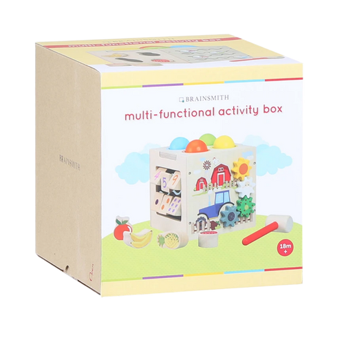 Multi-Functional Activity Box - Wooden Toy - Age 1+