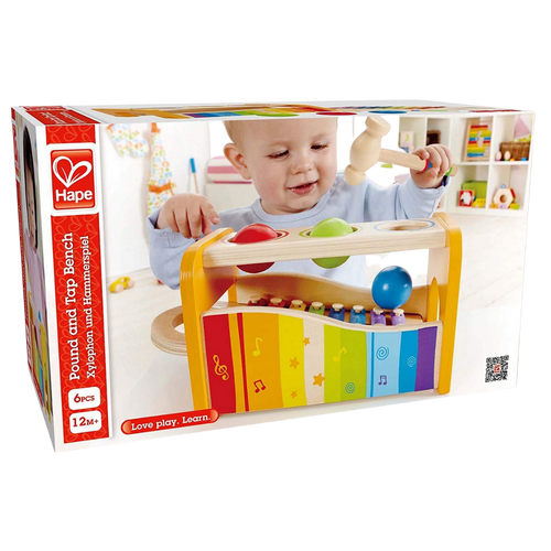 Hape Pound and Tap Bench -Wooden Toy for the age 1 and up