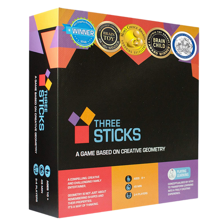 Kitki Three Sticks Board Game Math Puzzle for the age 8 and up