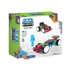 Guide Craft -IO Blocks Race Cars Set- construction toy-for the age 3 and up