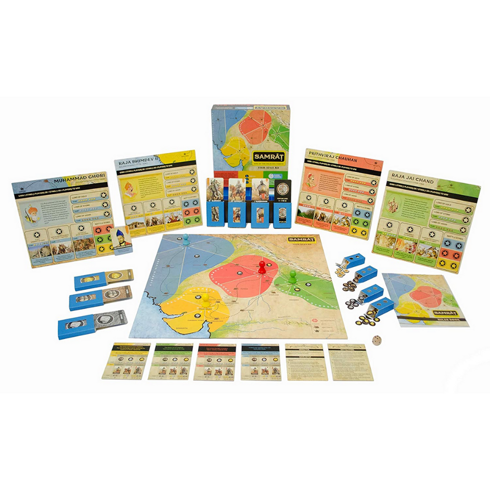 Kitki Samrat Indian History Board Game for the age 8 and up