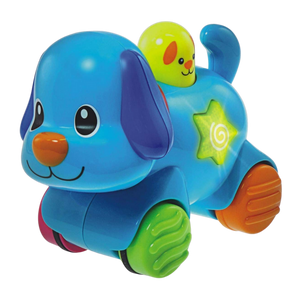 Winfun Press N Go Pet Puppy Blue for the age 6 months and up