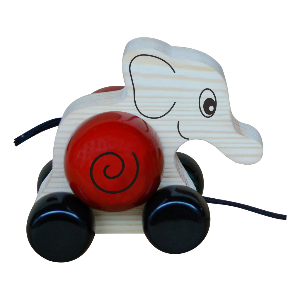Elifa - Wooden Pull Toy - Age 1-2 yrs