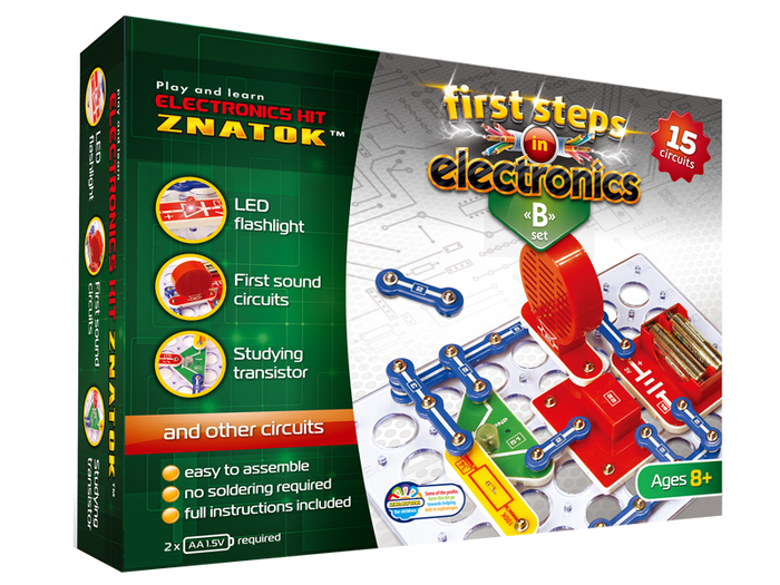 First Steps in Electronics Kit Set B 15 circuits - Age 8+