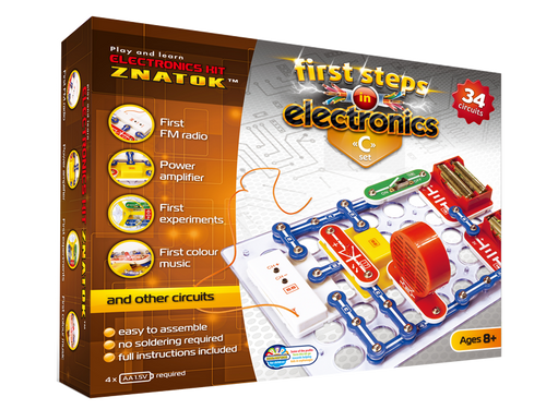 First Steps in Electronics Kit Set C 34 Circuits - Age 8+