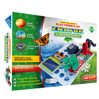 Alternative Energy Electronics Kit 50 Projects - Age 8+