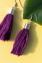 Load image into Gallery viewer, purple summer earrings