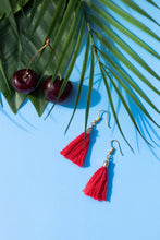 Load image into Gallery viewer, Tropical earrings hot cherry