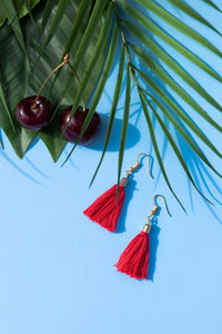 Tropical earrings hot cherry
