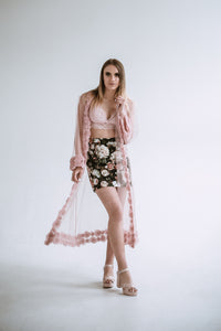 sustainable fashion brands cloak witk tulle roses