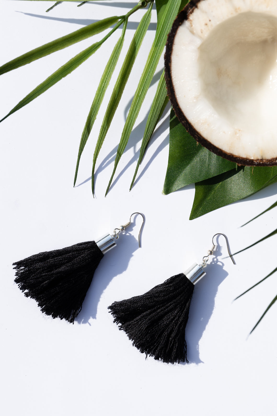 Tropical earrings coconut baby