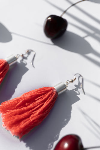 strawberry addiction earrings red cherry