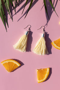 Tropical earrings summer light