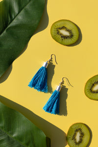 Tropical earrings blueberry bubble gum