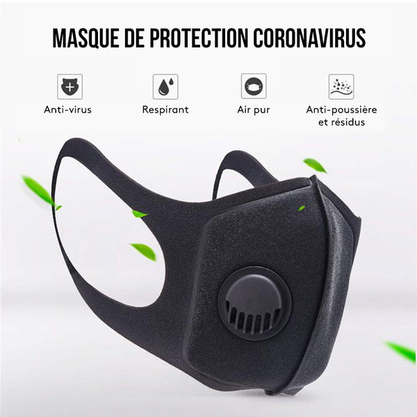 MASQUE DE PROTECTION FILTRANT - CORONAVIRUS