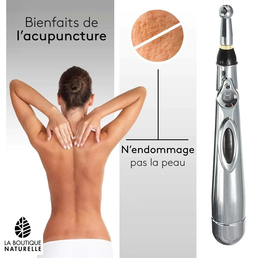 Stylo d'acupuncture - douleurs musculaires & articulaires - migraines - stress - rhumatismes