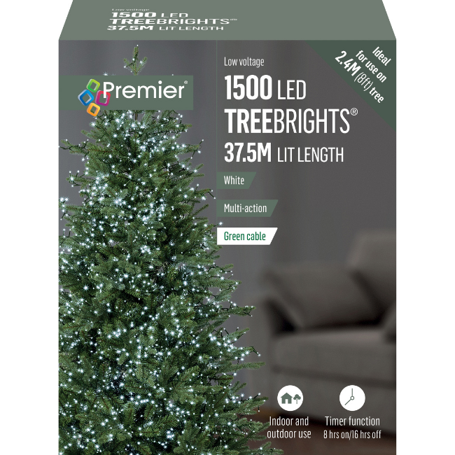 1500 White LED Christmas Treebrights