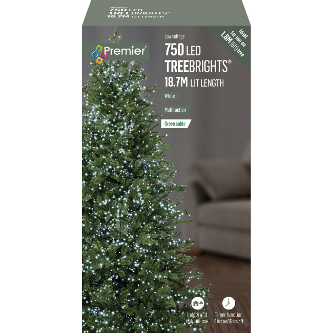 750 LED Treebrights with Timer (White) Christmas Lights