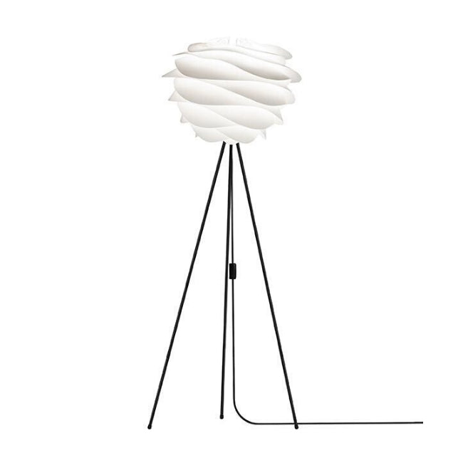 Umage Carmina White (Medium) - Floor Lamp (Black Stand)
