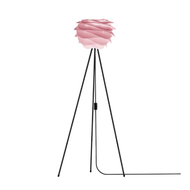 Umage Carmina Baby Rose (Mini) - Floor Lamp (Black Stand)