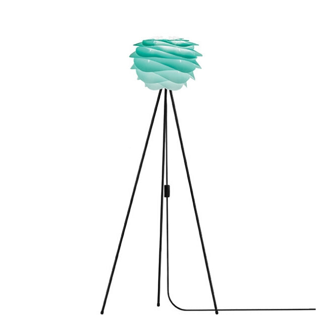 Umage Carmina Turquoise (Mini) - Floor Lamp (Black Stand)
