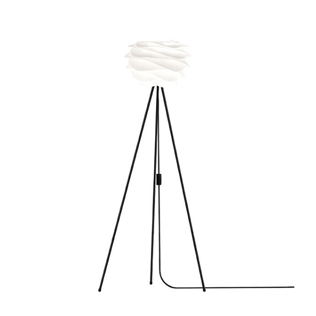Umage Carmina White (Mini) - Floor Lamp (Black Stand)