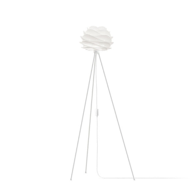 Carmina White (Mini) -Floor Lamp (White Stand)