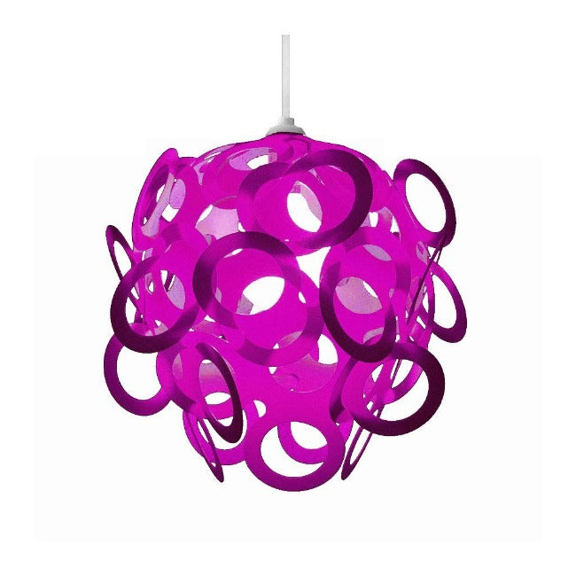 Loopy-Lu Purple Lamp Shade