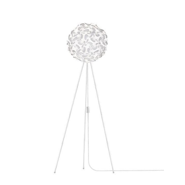 Lora White - Floor Lamp (White Stand)