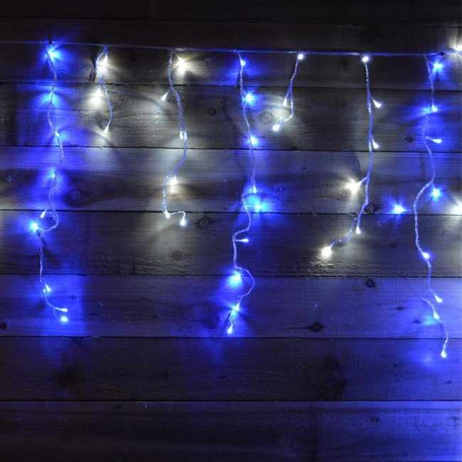 Premier 480 LED Snowing Icicle Brights (Blue & White)