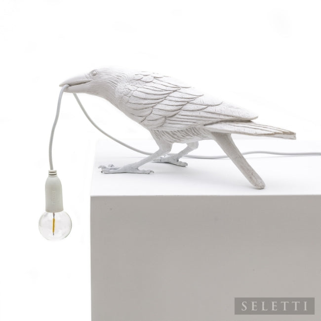 Seletti Bird Lamp - Playing - White