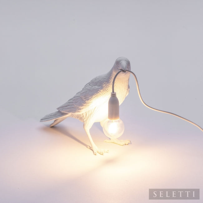 Seletti Bird Lamp - Waiting - White