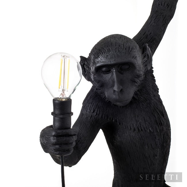 Seletti Monkey Hanging Lamp - Black