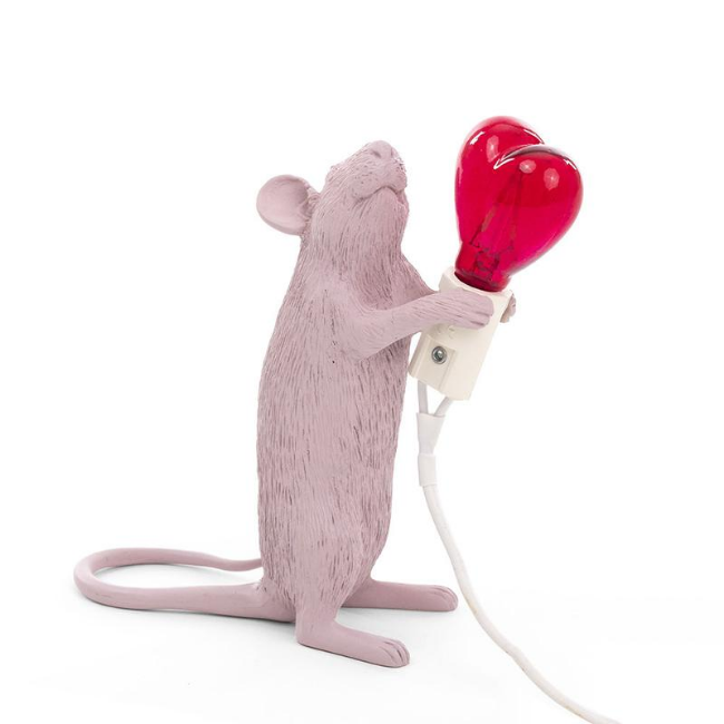 Seletti Mouse Lamp - Standing - Valentine Edition