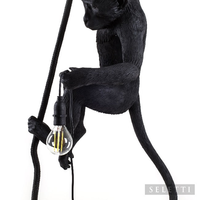 Seletti Monkey Rope Ceiling Lamp - Black