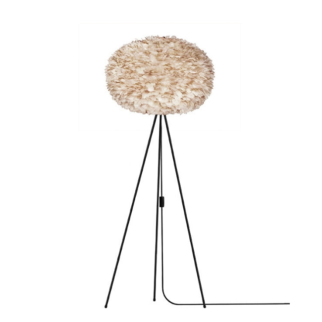 Eos Brown (Large) - Floor Lamp (Black Stand)
