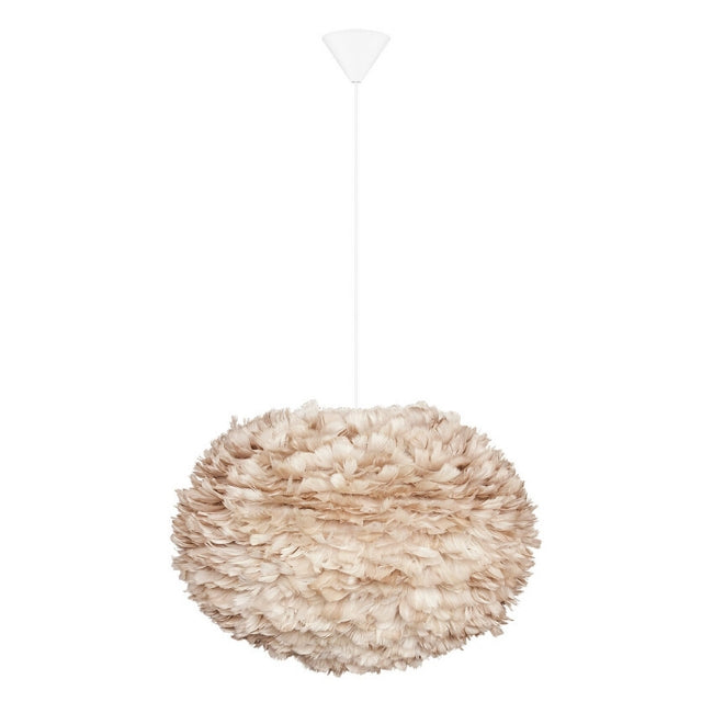 Eos Feather Lamp Shade - Light Brown - Large