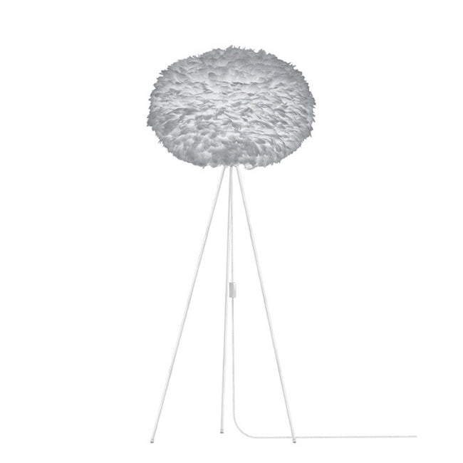Eos Grey (Large) - Floor Lamp (White Stand)