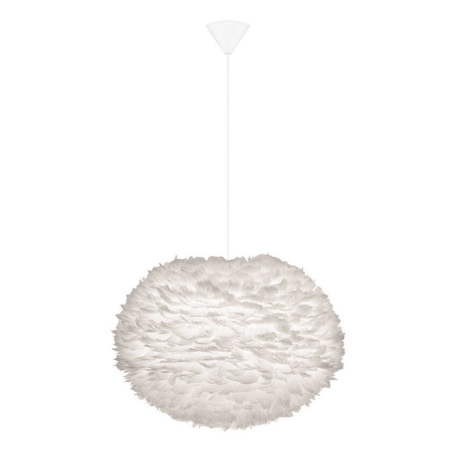 Eos Feather Lamp Shade - Large - White