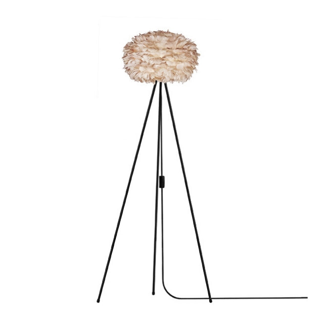 Umage Eos Brown (Medium) - Floor Lamp (Black Stand)