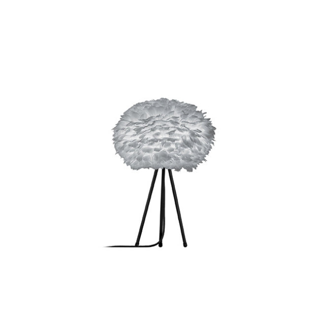 Umage Eos Grey (Medium) - Table Lamp (Black Stand)